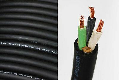 4//3 SOOW SO Cord 20 ft HD USA Portable Outdoor Indoor 600 V Flexible Wire cable