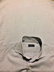 FINAMORE-1925-NAPOLI-15-5-Blue-amp-White-100-Cotton-Dress-Shirt