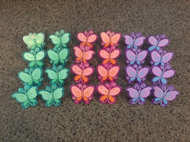 Butterfly Cupcake Rings  Cake Toppers Party Favors Supplies Bakery Birthday 24