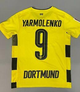 BORUSSIA DORTMUND 2017 2018 YARMOLENKO HOME SHIRT FOOTBALL SOCCER ...