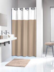 Extra Long Hookless Shower Curtain 72 X 78 Inch Sealskin DOPPIO