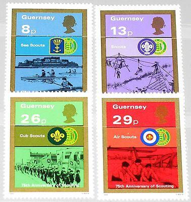 Organisationen Gb Guernsey 1982 251-54 246-49 75 Ann Boy Scouts Movement Pfadfinder Emblem Mnh Hohe QualitäT Und Preiswert