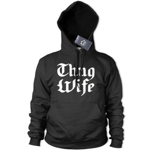 Thug Wife Hoody Womens Funny Wifey Hoodie Sweater Life Bride Hen Do Gift Tee 452