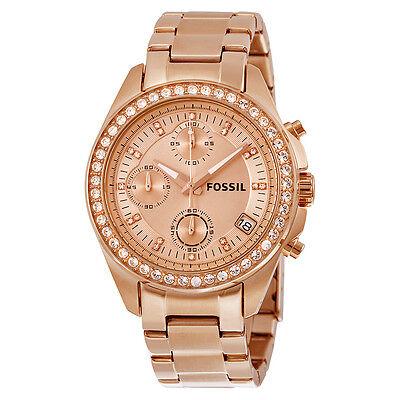 Fossil Decker Chronograph Rose Gold-tone Bracelet Ladies Watch ES3352