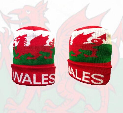 Pays de Galles Pompon Chapeau d/'hiver//Pays de Galles Knitted Beanie Bobble Hat Femme Homme