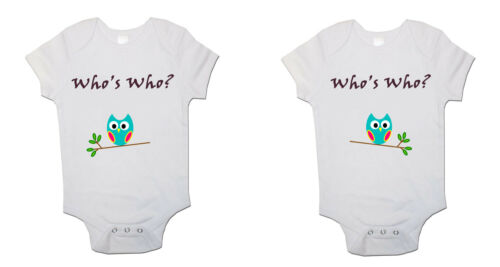 Zwillinge Baby body Whos Who Baby-body Strampler Pack Of 2