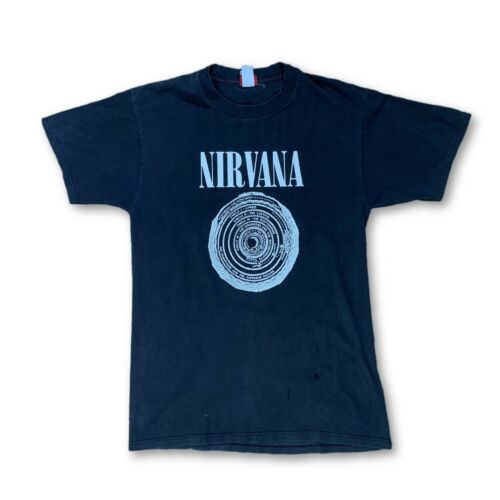 Vintage VTG 90s Nirvana Sub Pop Vestibule Black T-