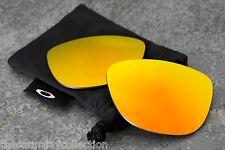 New Oakley Frogskins Fire Iridium Orange Replacement Lenses - Genuine Pair + Bag