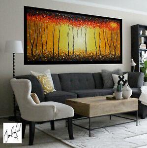 art-painting-original-oil-canvas-abstract-Bush-Fire-Australian-not-Aboriginal