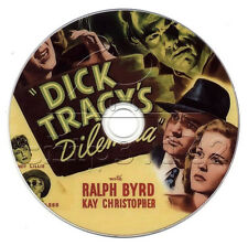 Dick Tracy's Dilemma (1947) Ralph Byrd Action, Crime, Drama Movie on DVD