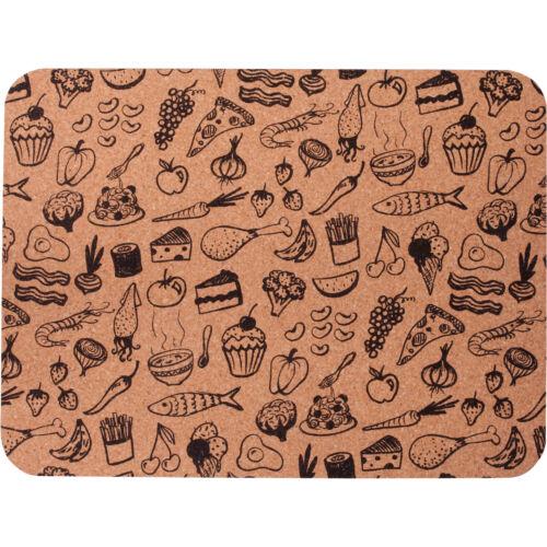 Motiv Essen 40 x 30 cm Unterlage Untersetzer Platzmatte aus Kork