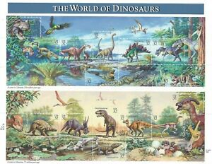 "Scott 3136 - 32 Cent ""The World of Dinosaurs"" Mini Sheet of 15 MNH  CV $21.75"