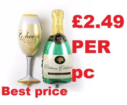 approx. 101.60 cm Botella de cristal de 40 in nuevo champaña globo de Helio Aluminio Globos Celebración