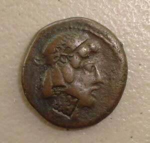 1st Century BC Characene Kingdom Ancient Greek Billon Tetradrachm F Countermark