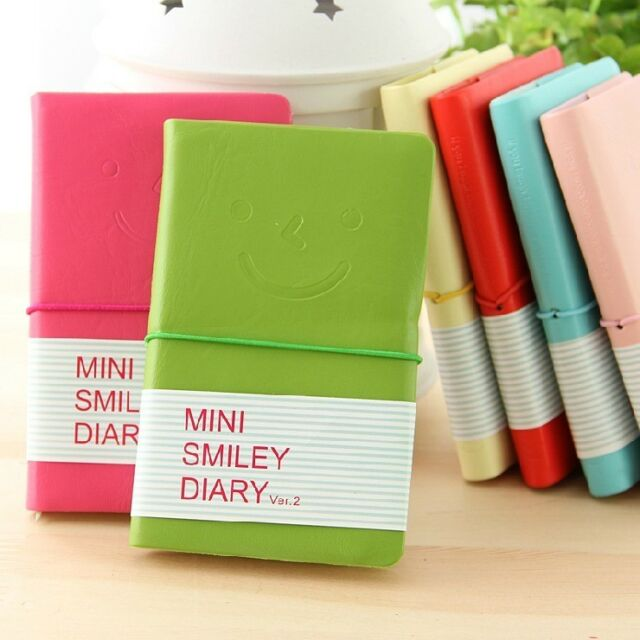 """Mini Smiley"" Cute Mini Diary Pocket Notebook Tiny Journal Memo Free Note Gift"