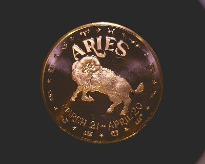 TAURUS ZODIAC April 21 1 oz Copper Round May 21   #122