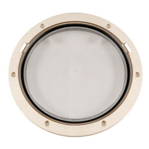 """BECKSON 8/"""" CLEAR CENTER SCREW OUT DECK PLATE WHITE"""