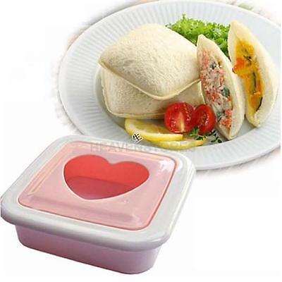 Love Heart Shape Sandwich Bread Toast Maker Mold Mould Cutter DIY Tool hv2n