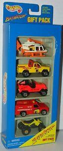 Hot-Wheels-1996-Baywatch-5-Pack-w-Rescue-Ranger-Misprint-Error-034-FISRT-034-MIP