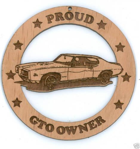 68 69 Pontiac GTO Coupe Wood Ornament Engraved