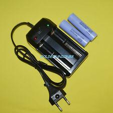 2X 10A Samsung ICR 18650 22P 3.6V Li-ion battery high drain  +1X smart charger