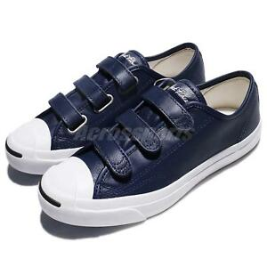 fc35f94826d4 Converse Jack Purcell 3V Strap Navy White Men Women Shoes Sneakers ...