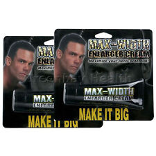 2 Max Width Men Male Penis Enlarger Cream Enlargement Enhancement Girth Enhancer