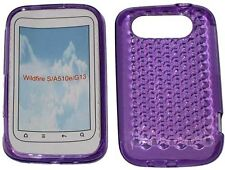 For HTC Wildfire S A510e G13 Pattern Soft Gel Jelly Case Protector Cover Purple