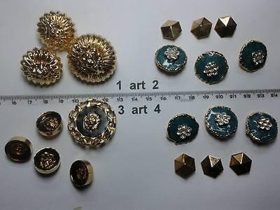 1 lotto bottoni gioiello smalti pietre strass murano buttons boutons vintage g2