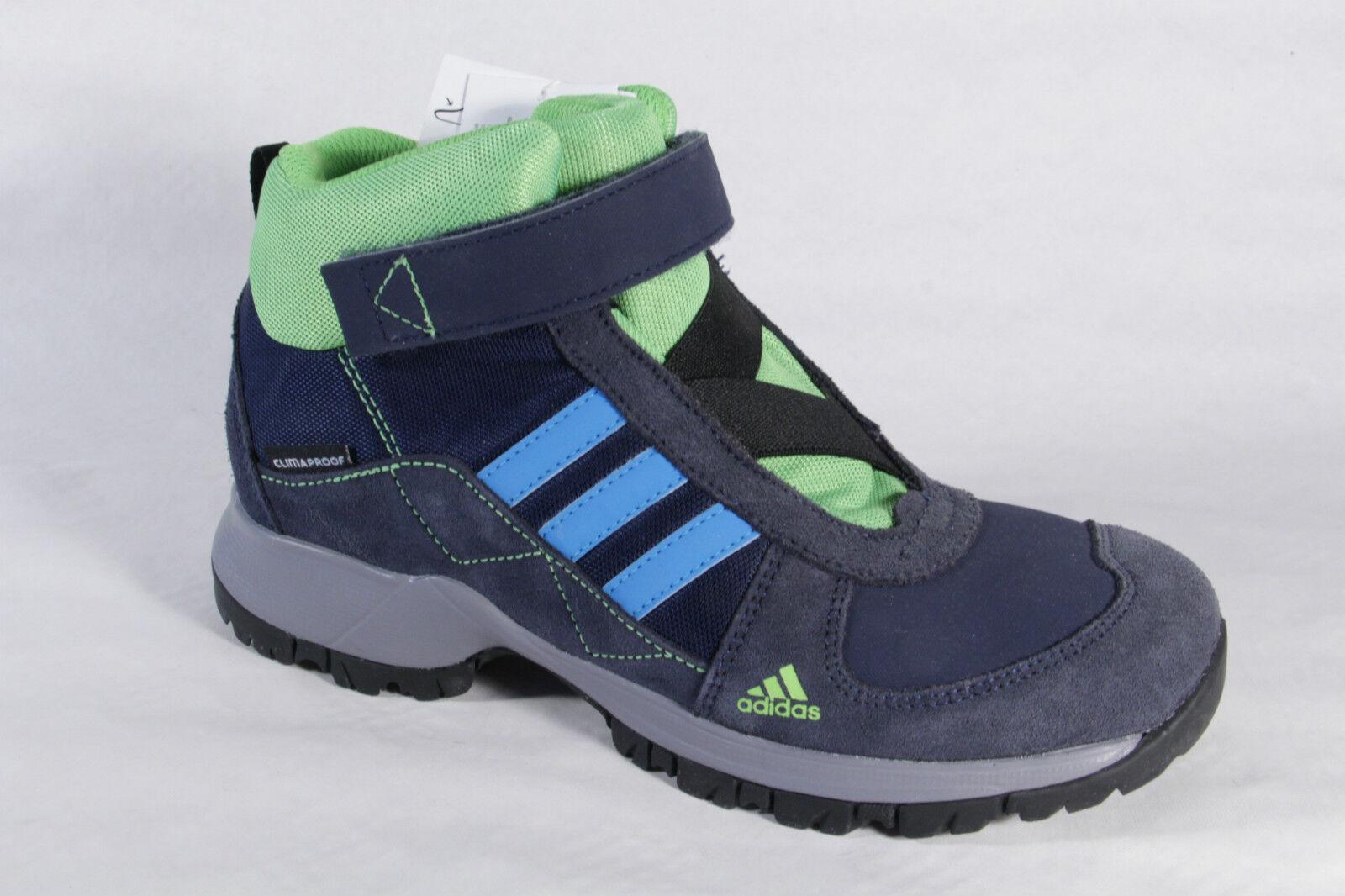 Adidas Stiefel Stiefel Stiefel Stiefel wasserdicht Leder Textil blau grün Climaproof NEU a2ea57