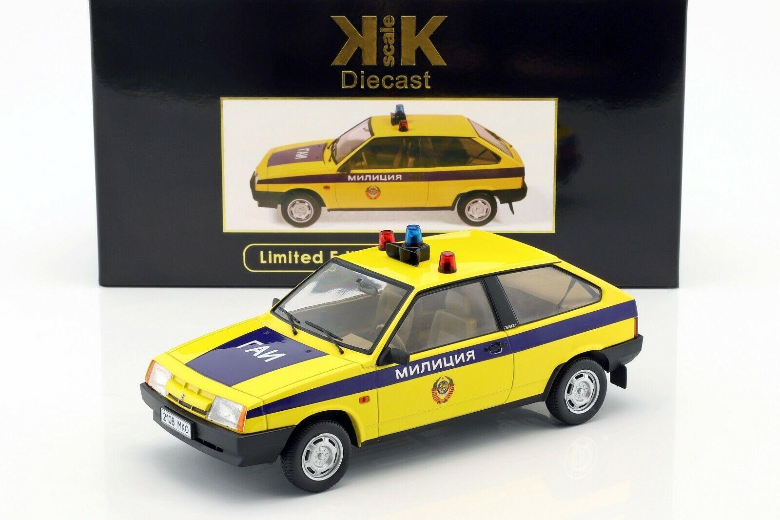 LADA-VAZ SAMARA 1984 Russia (POLIZIA SOVIETICA) L.E.1/250 - 1/18 Kk-Scale
