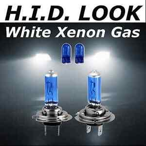 Fiat 500C 100w Super White Xenon HID Low Dip Beam Headlight Headlamp Bulbs Pair