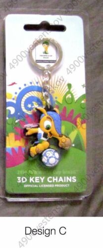 2014 FIFA world cup Brazil 3D Keychains licensed Trophy or Fuleco pick 1pc