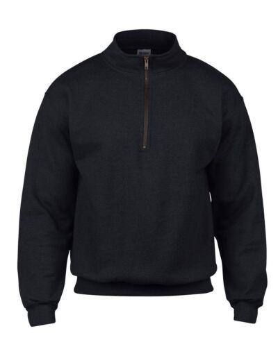 Gildan Heavy Blend™ Adult Vintage Cadet Collar Sweatshirt-1//4 neck zip-S to 3XL