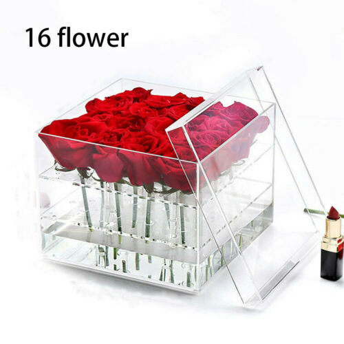 Romantic Flower Fresh-keeping Box Clear Acrylic Rose Flower Box with Cover