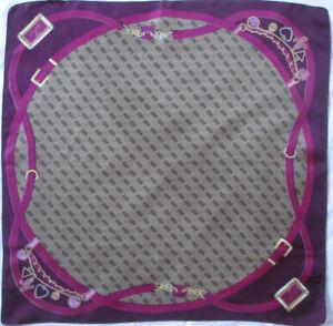adf9da8df1f Superbe foulard GUESS soie TBEG vintage scarf 50 x 50 cm