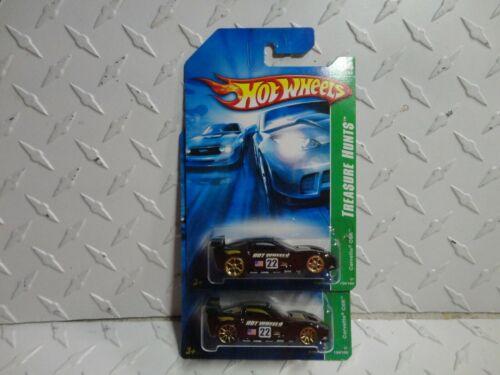 2007 Hot Wheels Super /& Reguläre Schatzsuche #124 Schwarz Corvette C6R/'s
