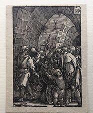 """Hans Sebald Beham, XILOGRAFIA XVI secolo,""""GESU' CADE SOTTO LA CROCE""""Germania"""