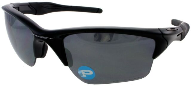 0e7b63770df91 NEW Oakley OO9154-05 Men s Half 2.0 XL Polished Black   Black Iridium  Polarized