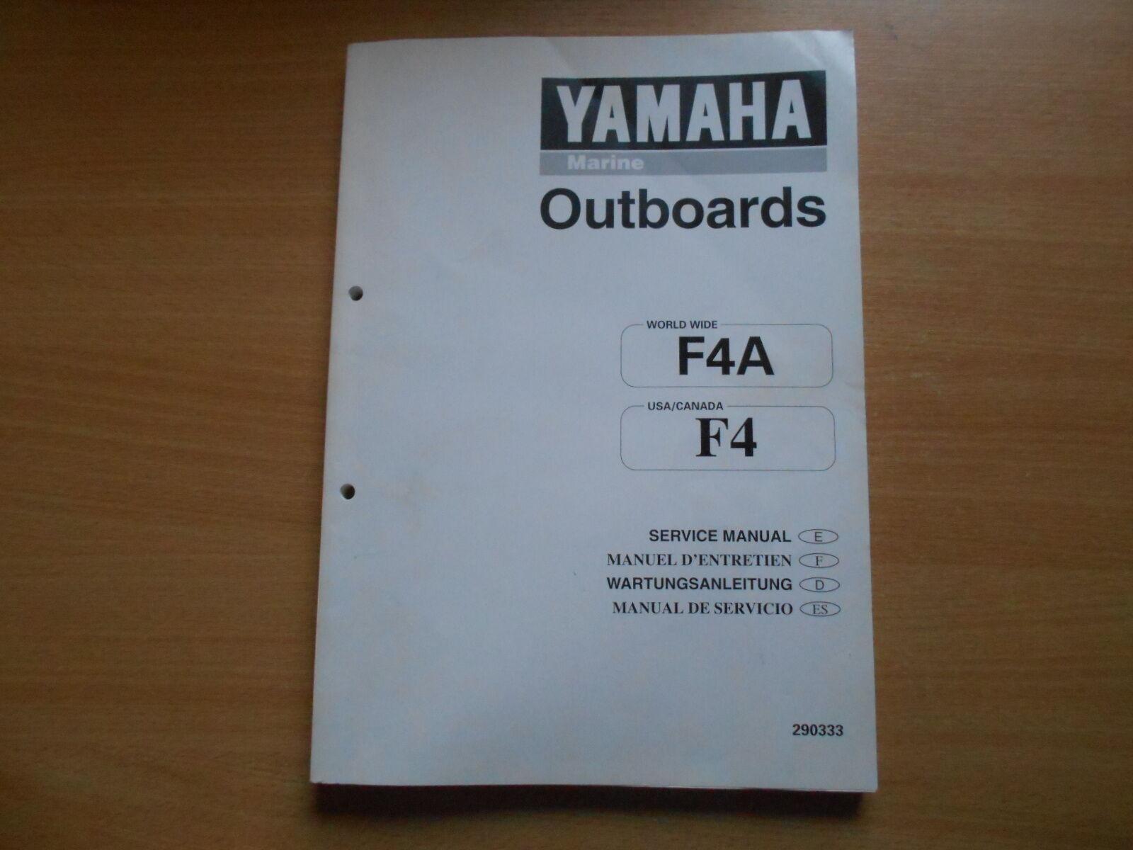 Werkstatthandbuch Werkstatthandbuch Werkstatthandbuch Yamaha Außenborder 4 PS manuel d`entretien service manual ddaaab