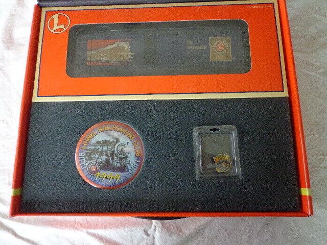 Lionel Trains 1999 gold Member Box Set LRRC Railroader Club w 6-19978 Boxcar
