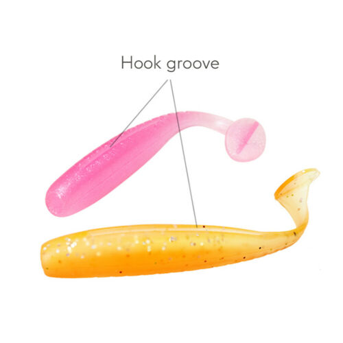 10pcs//Bag 2.3g Soft Fishing Lures 7cm Silicone Baits T Tail Easy Shiner Swimbait