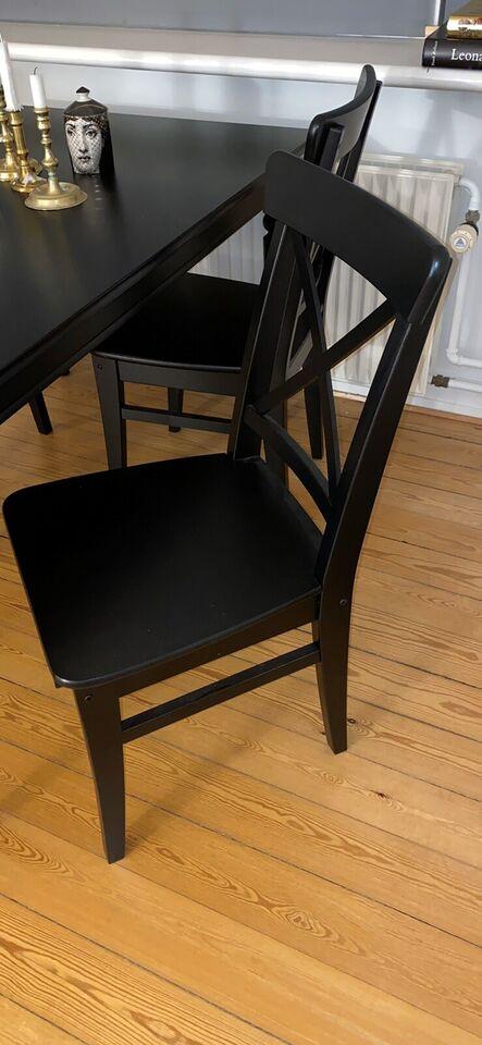 Spisebord m/stole, Massiv birk, Ikea