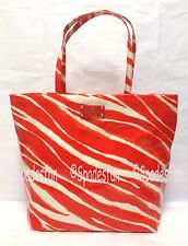 Kate Spade WKRU1505 Daycation Bon Shopper Tote Bag Zebra Red Orange CREAM NWT