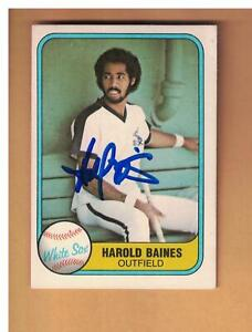 Harold Baines Autographed 1981 FLEER Rookie Baseball Card Signed CHICAGO WHITE