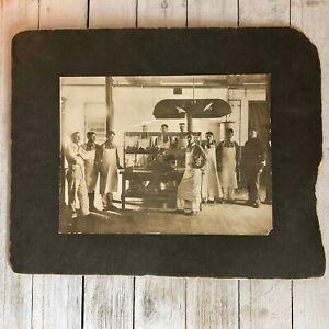 Occupational-Photo-Butcher-Shop-Antique-1914-6-x-8-Sepia
