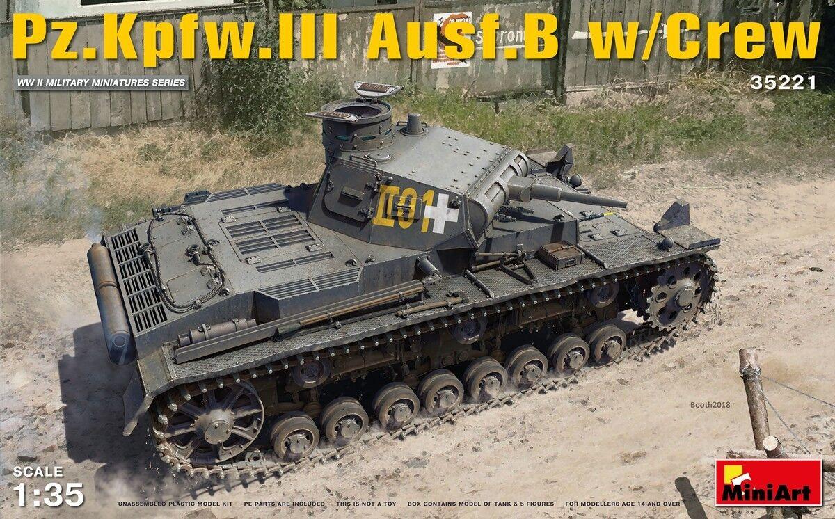 Miniart 1/35 Pz.kpfw.iii Ausf. B con Girocollo #35221