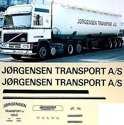 Originale Volvo Jorgensen Trasporto A/s Norway (n) 1:87 Truck Decal Camion Decalcomania-mostra Il Titolo Originale