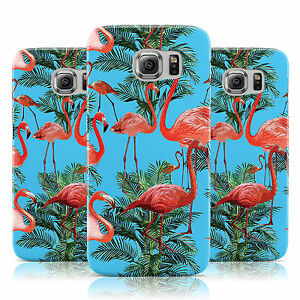 PALM-FLAMINGO-PATTERN-PRINT-BLUE-CASE-COVER-FOR-SAMSUNG-GALAXY-MOBILE-PHONES