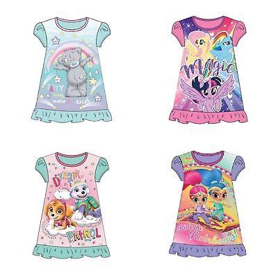 My Little Pony Childrens Kids Girls Pink PJs Nightdress Nightie Age 2-8 Years